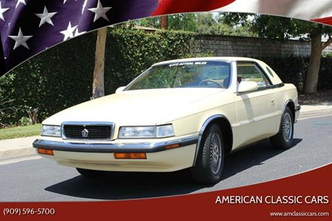 1989 Chrysler TC for sale at American Classic Cars in La Verne CA