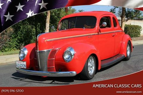 1940 Ford Coupe for sale at American Classic Cars in La Verne CA