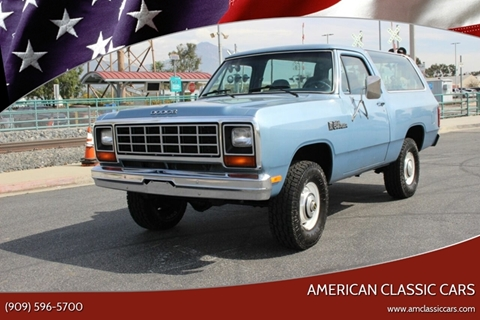 1984 Dodge Ramcharger for sale at American Classic Cars in La Verne CA