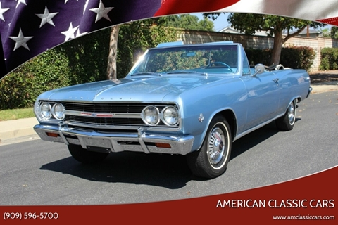 1965 Chevrolet Chevelle Malibu for sale at American Classic Cars in La Verne CA