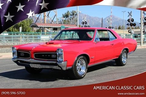 1966 Pontiac GTO for sale at American Classic Cars in La Verne CA