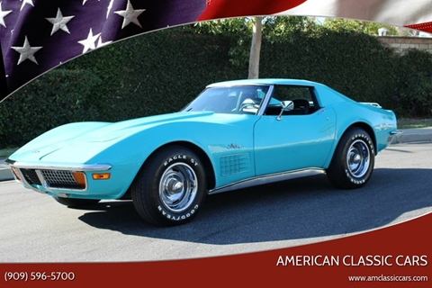 1972 Chevrolet Corvette for sale at American Classic Cars in La Verne CA