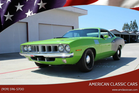 1971 Plymouth Cuda for sale at American Classic Cars in La Verne CA