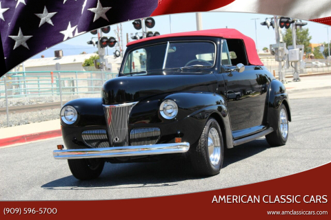 1941 Ford Super Deluxe for sale at American Classic Cars in La Verne CA