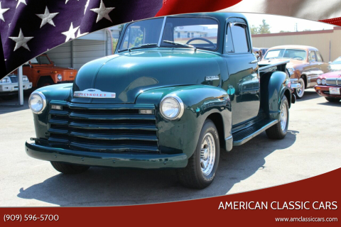 1952 Chevrolet 3100 for sale at American Classic Cars in La Verne CA