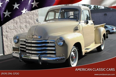 1953 Chevrolet 3100 for sale at American Classic Cars in La Verne CA