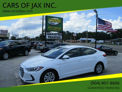 2018 Hyundai Elantra for sale at CARS OF JAX INC. in Jacksonville FL
