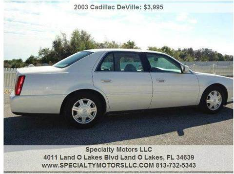 2003 Cadillac DeVille for sale in Land O Lakes, FL