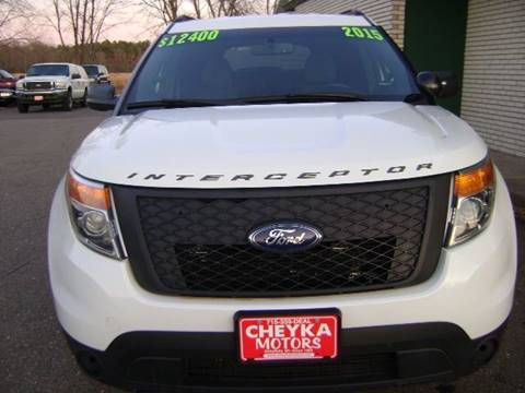 2015 FORD ECO BOOST EXPLORER ECO BOOST for sale at Cheyka Motors in Schofield WI
