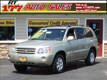 2001 Toyota Highlander for sale at 177 Auto Sales in Pasadena MD