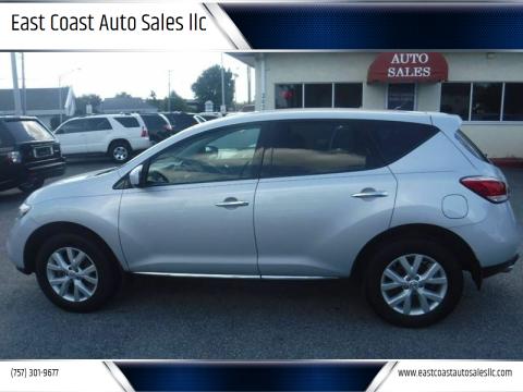 2014 Nissan Murano for sale at East Coast Auto Sales llc in Virginia Beach VA
