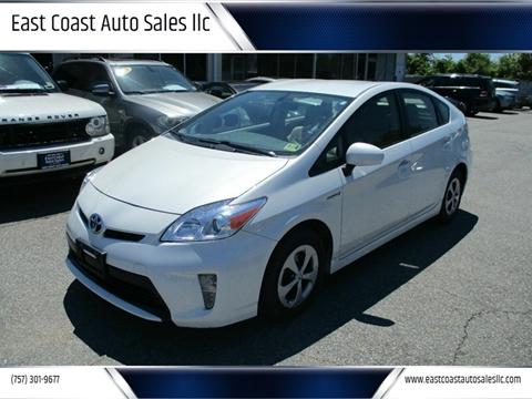 2015 Toyota Prius for sale at East Coast Auto Sales llc in Virginia Beach VA