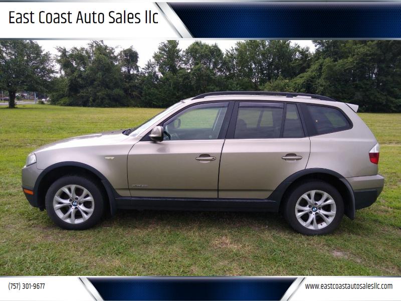 2010 BMW X3 for sale at East Coast Auto Sales llc in Virginia Beach VA