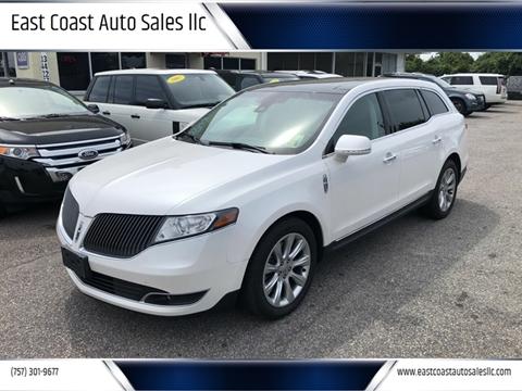2014 Lincoln MKT for sale at East Coast Auto Sales llc in Virginia Beach VA