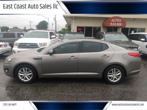 2012 Kia Optima for sale at East Coast Auto Sales llc in Virginia Beach VA