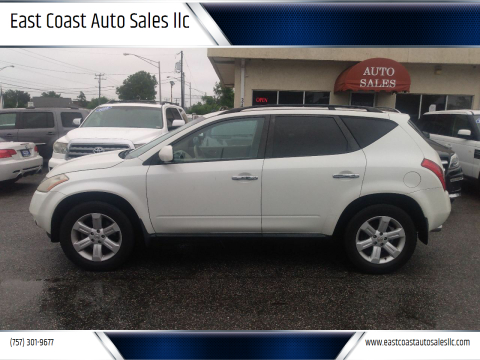 2007 Nissan Murano for sale at East Coast Auto Sales llc in Virginia Beach VA