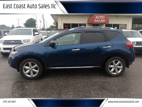 2010 Nissan Murano for sale at East Coast Auto Sales llc in Virginia Beach VA