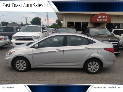 2015 Hyundai Accent for sale at East Coast Auto Sales llc in Virginia Beach VA