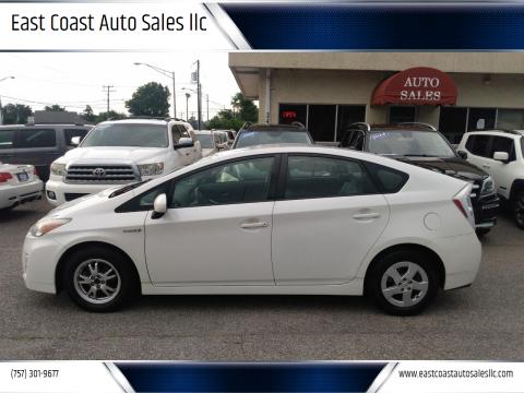 2010 Toyota Prius for sale at East Coast Auto Sales llc in Virginia Beach VA
