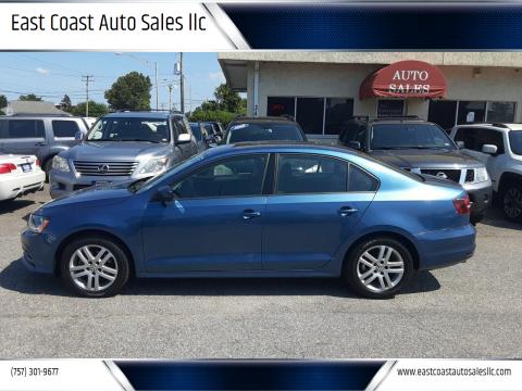 2018 Volkswagen Jetta for sale at East Coast Auto Sales llc in Virginia Beach VA