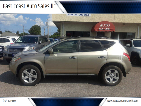 2005 Nissan Murano for sale at East Coast Auto Sales llc in Virginia Beach VA
