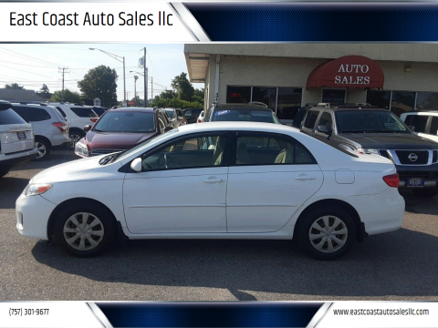 2011 Toyota Corolla for sale at East Coast Auto Sales llc in Virginia Beach VA