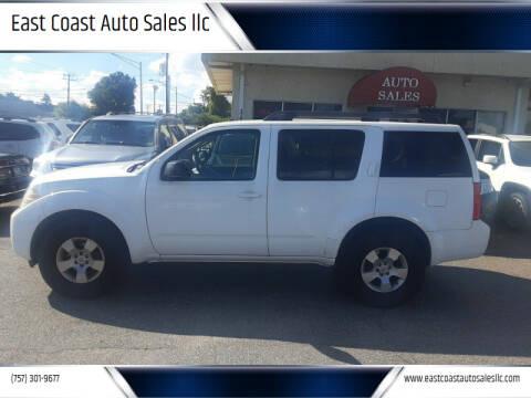2008 Nissan Pathfinder for sale at East Coast Auto Sales llc in Virginia Beach VA