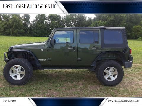 2008 Jeep Wrangler Unlimited for sale at East Coast Auto Sales llc in Virginia Beach VA