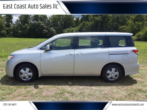 2013 Nissan Quest for sale at East Coast Auto Sales llc in Virginia Beach VA
