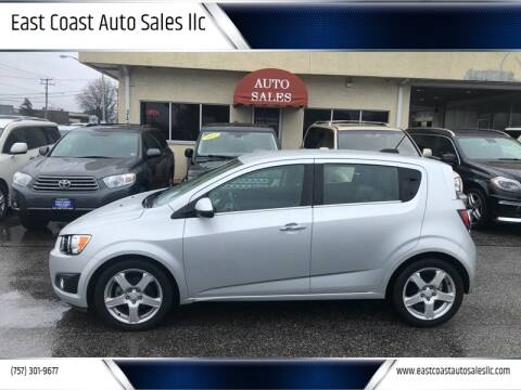 2015 Chevrolet Sonic for sale at East Coast Auto Sales llc in Virginia Beach VA