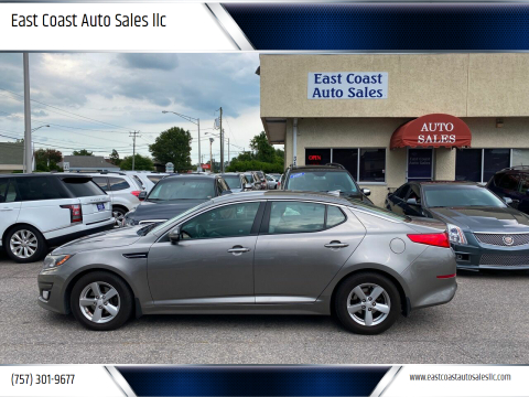 2014 Kia Optima for sale at East Coast Auto Sales llc in Virginia Beach VA