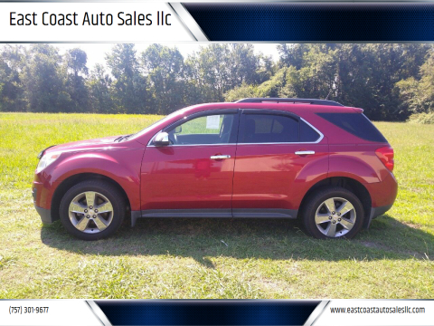 2013 Chevrolet Equinox for sale at East Coast Auto Sales llc in Virginia Beach VA