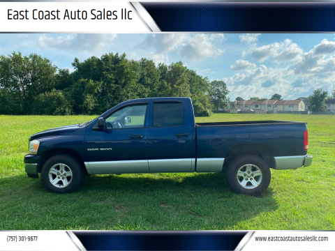 2006 Dodge Ram Pickup 1500 for sale at East Coast Auto Sales llc in Virginia Beach VA