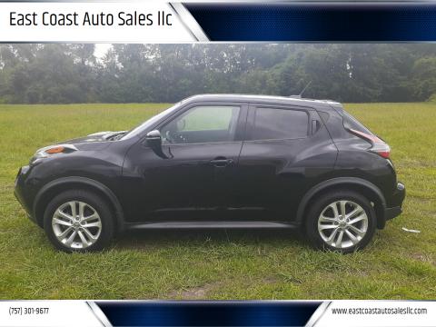 2016 Nissan JUKE for sale at East Coast Auto Sales llc in Virginia Beach VA