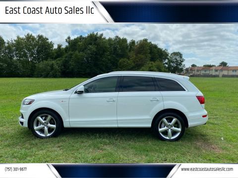 2014 Audi Q7 for sale at East Coast Auto Sales llc in Virginia Beach VA