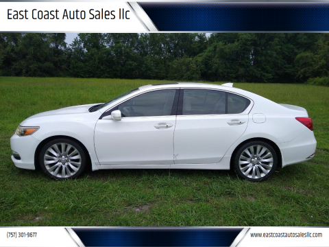 2014 Acura RLX for sale at East Coast Auto Sales llc in Virginia Beach VA