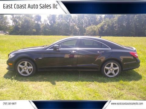 2012 Mercedes-Benz CLS for sale at East Coast Auto Sales llc in Virginia Beach VA