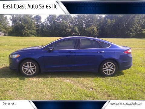 2016 Ford Fusion for sale at East Coast Auto Sales llc in Virginia Beach VA
