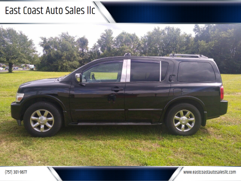 2006 Infiniti QX56 for sale at East Coast Auto Sales llc in Virginia Beach VA