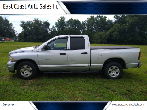 2004 Dodge Ram Pickup 1500 for sale at East Coast Auto Sales llc in Virginia Beach VA