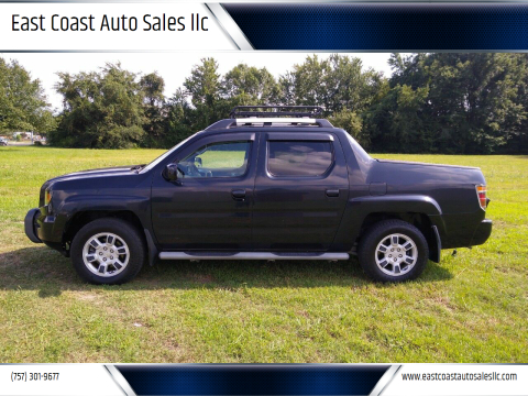 2006 Honda Ridgeline for sale at East Coast Auto Sales llc in Virginia Beach VA