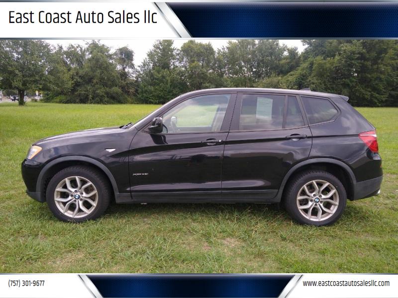 2011 BMW X3 for sale at East Coast Auto Sales llc in Virginia Beach VA