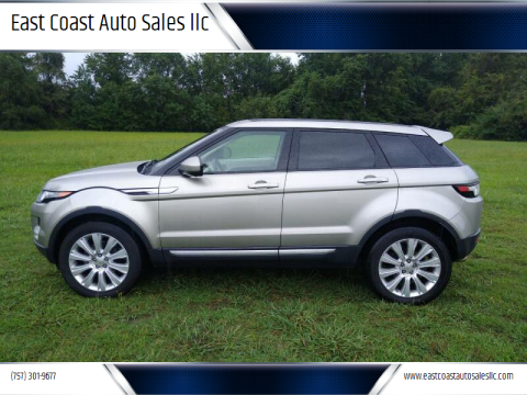 2014 Land Rover Range Rover Evoque for sale at East Coast Auto Sales llc in Virginia Beach VA