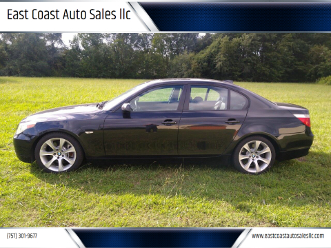 2007 BMW 5 Series for sale at East Coast Auto Sales llc in Virginia Beach VA