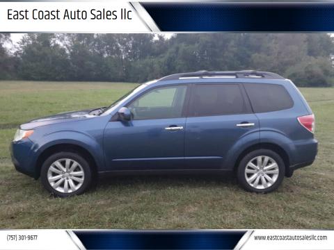 2012 Subaru Forester for sale at East Coast Auto Sales llc in Virginia Beach VA