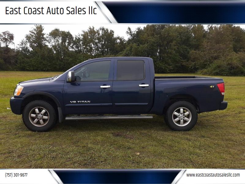 2012 Nissan Titan for sale at East Coast Auto Sales llc in Virginia Beach VA
