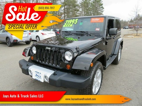 2012 Jeep Wrangler for sale in Loudon, NH