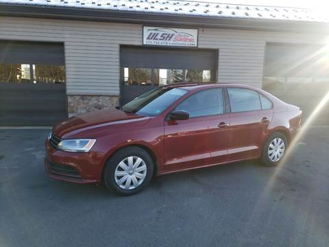 2016 Volkswagen Jetta for sale at Ulsh Auto Sales Inc. in Summit Station PA