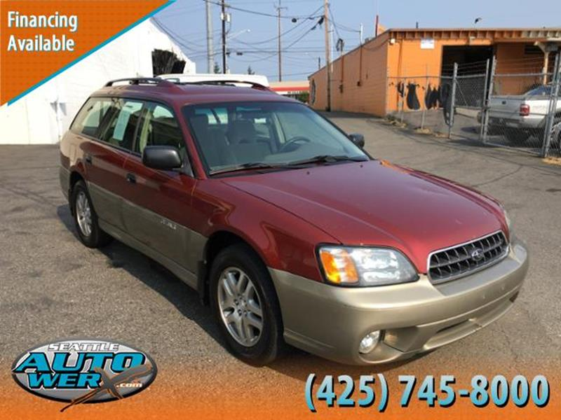 2004 Subaru Outback for sale at Seattle Auto Werx in Lynnwood WA