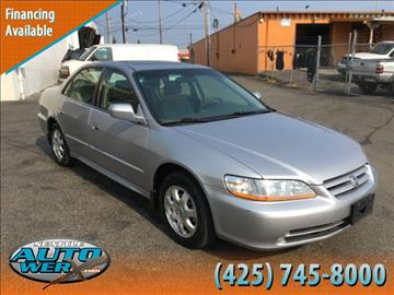 2002 Honda Accord for sale at Seattle Auto Werx in Lynnwood WA